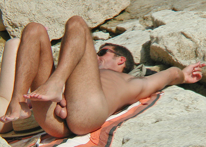 Voyer pussy play at nude beach
